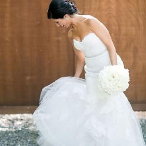 Пятно на свадебном платье